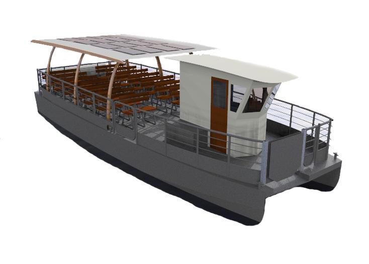 Solar electric catamaran - Naviwatt